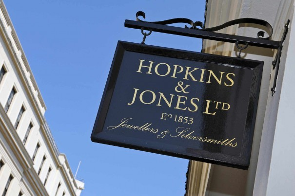 Hopkins and Jones Pawnbrokers Sign