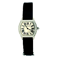 18ct Cartier tortue Strap Watch