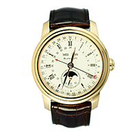 Blancpain Le Brassus Watch with gold bezzels and black strap