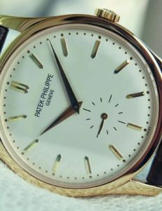 Patek Philippe Watch with gold bezels